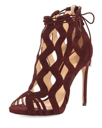 Alexandre Birman Loretta Wave Caged Laced Ankle Bootie