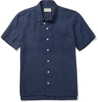 Oliver Spencer Linen Shirt Blue