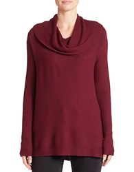 Lord And Taylor Petite Cowlneck Sweater Raspberry Wine