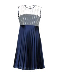 Alex Vidal Short Dresses Dark Blue