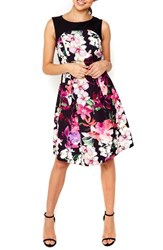 Wallis Women's Dotty Orchid Belted Fit And Flare Dress