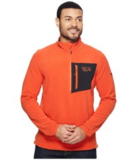 Mountain Hardwear Strecker Lite Quarter Zip Bonfire Men's Long Sleeve Pullover Red
