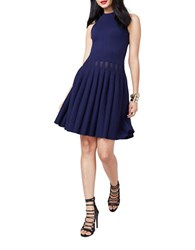 Rachel Roy Jacquard Fit And Flare Dress Sapphire