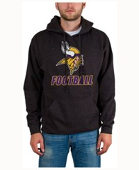 Junk Food Men's Minnesota Vikings Wing T Formation Hoodie Heather Charcoal