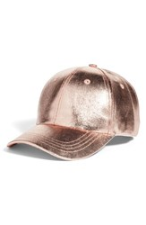 Collection Xiix Crackled Metallic Baseball Cap Pink Rose Gold