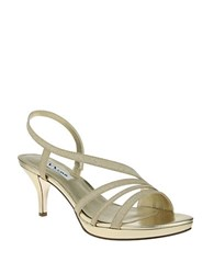 Nina Neely Glitter Vinyl Open Toe Sandals Gold