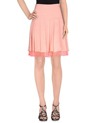 Gold Case Skirts Knee Length Skirts Women Coral