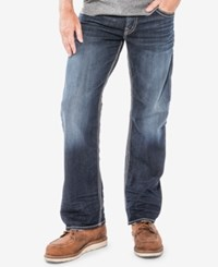 Silver Jeans Co. Men's Gordie Relaxed Fit Dark Blue