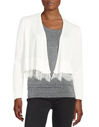 Tommy Hilfiger Lace Hemmed Cardigan Ivory