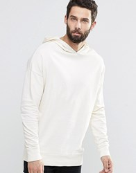 Only And Sons Hooded Sweat With Drop Shoulder Blanc White