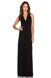 Splendid Jersey Twist Front Maxi Dress Black