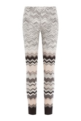 Missoni Knit Leggings With Wool Multicolor