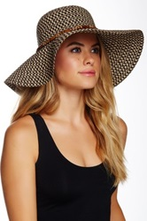 14Th And Union Multi Braid Floppy Hat Brown