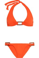 Melissa Odabash Paris Halterneck Bikini Bright Orange