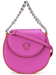 Versace Palazzo Curved Shoulder Bag Pink Purple