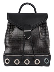 Alexander Mcqueen Mini Eyelets Leather Backpack