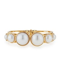 Rj Graziano Pearl Hinged Bracelet Gold R.J. Graziano Gold Pearl