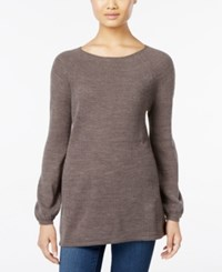 Styleandco. Style Co. Petite Boat Neck Swing Sweater Only At Macy's Steel Grey Heather