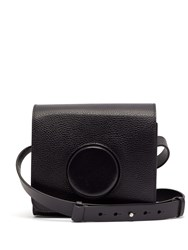 Christophe Lemaire Camera Leather Cross Body Bag Grey