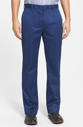 Men's Big And Tall Bonobos 'Weekday Warrior' Non Iron Straight Leg Cotton Pants Monday True Blues