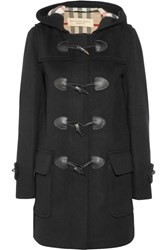 Burberry Wool Felt Duffle Coat Black