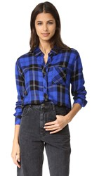 Rails Hunter Button Down Shirt Cobalt Tartan