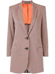 Paul Smith Ps By Checked Single Breasted Blazer Orange