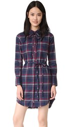 Dl1961 The Blue Shirt Shop Prince And Mott Dress Navy And Burgundy Plaid