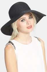 Eric Javits 'Hampton' Straw Sun Hat Black