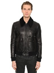 Belstaff Halington Shearling And Leather Jacket