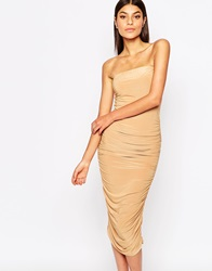 Club L Bandeau Midi Pencil Dress Deeptan