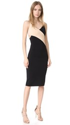 Alice Olivia Air Aurora Fitted Dress With Cutout Black Champagne