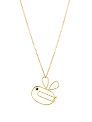 Hillier London Diamond And Yellow Gold Bumble Bee Necklace