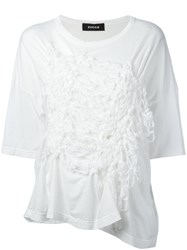 Zucca Gathered Front T Shirt White