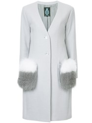 Guild Prime Furry Pockets Coat Polyester Rayon Lambs Wool Grey