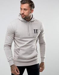 11 Degrees Hoodie In Gray With Logo Gray
