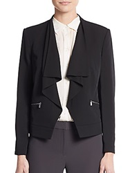 Calvin Klein Draped Open Front Blazer Black