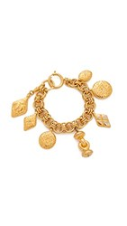 Wgaca What Goes Around Comes Around Chanel Charm Bracelet Previously Owned Yellow Gold