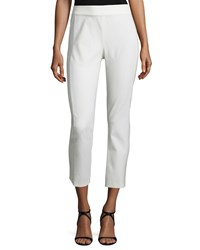 Veronica Beard Atlantic Silk Ankle Pants White Women's Size 12