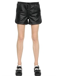 Karl Lagerfeld Nappa Leather Shorts