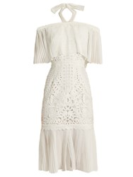 Temperley London Berry Lace Off The Shoulder Dress White