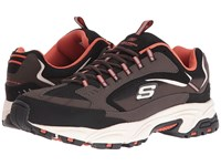 Skechers Stamina Cutback Brown Black Men's Lace Up Casual Shoes