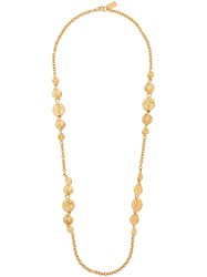 Kenzo Pre Owned Leaf Motif Long Necklace Gold