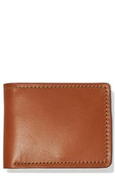 Filson 'S Leather Bifold Leather Wallet Brown Tan Leather
