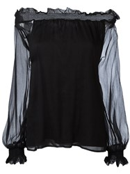P.A.R.O.S.H. Off Shoulder Blouse Black