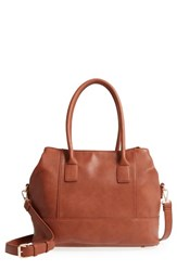 Sole Society Chasity Duffel Bag Brown Cognac