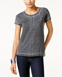 Styleandco. Style Co. Seam Detail High Low T Shirt Only At Macy's Deep Black