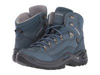 Lowa Renegade Gtx R Mid Gray Blue Hiking Boots