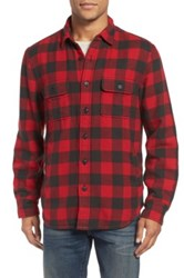 Nordstrom Thermal Lined Shirt Jacket Red