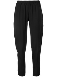 Le Tricot Perugia Straight Leg Trousers Black